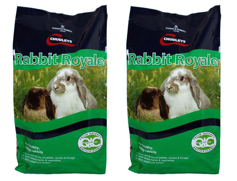 Chudleys Rabbit Royale Food 15kg x 2 (30kg Total) Muesli Rabbit Feed