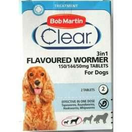 Bob Martin Clear Flavoured Dog 3 in 1 Wormer
