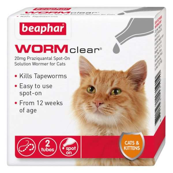 Beaphar WORMclear Spot-On Wormer for Cats