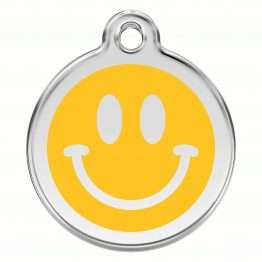 Red Dingo Smiley Face Dog / Cat ID Tag
