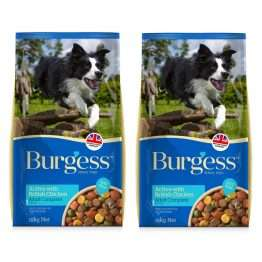 Burgess Active with Chicken and Beef 15kg x 2