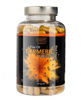 Golden Paste Black Pepper Flax Oil Turmeric 180 Capsules