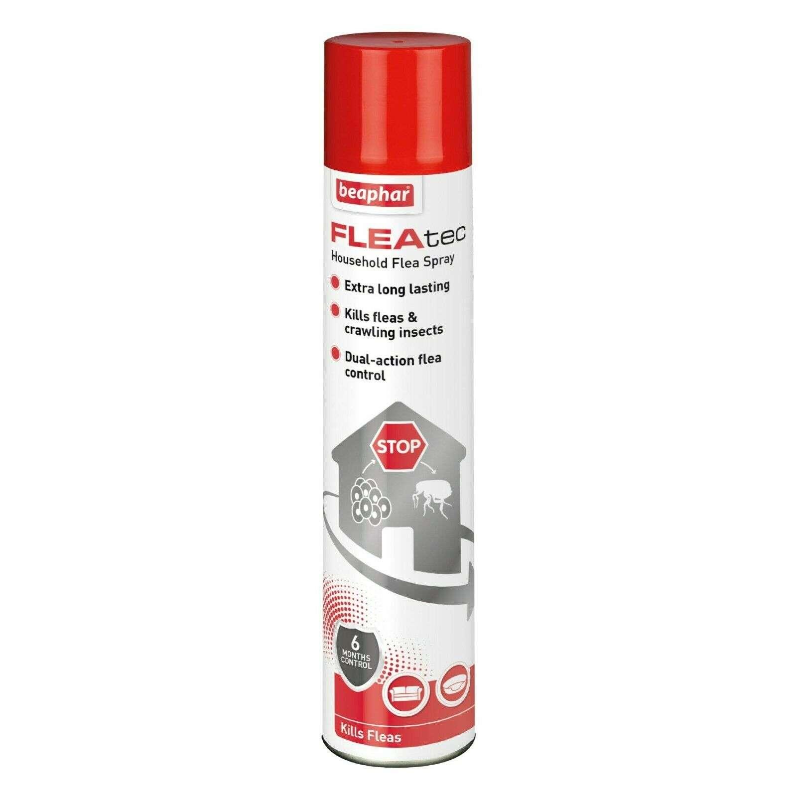 Beaphar FLEAtec House Spray 600ML. Premium Flea Control Spray with IGR