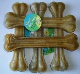 5 x large 10 Inch Pressed Rawhide Knuckle Bones