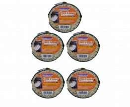 suet to go mealworm feast hanging coconut bird feeder x 5