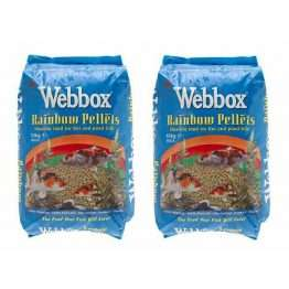 2 x 10kg Webbox rainbow pond pellets 10kg