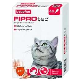 Beaphar fiprotec cat 4 treatment pack