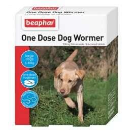 Beaphar One Dose Easy Wormer for Med - Large Dogs