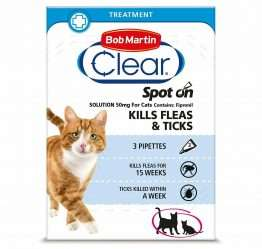 Bob Martin FleaClear Spot On for cats, 3TMNT
