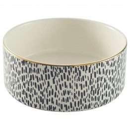 Mason Cash Splatter Gold Rim Dog Bowl 15cm