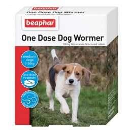 beaphar One Dose Easy Wormer for MEDIUM Dogs 6 - 20kg