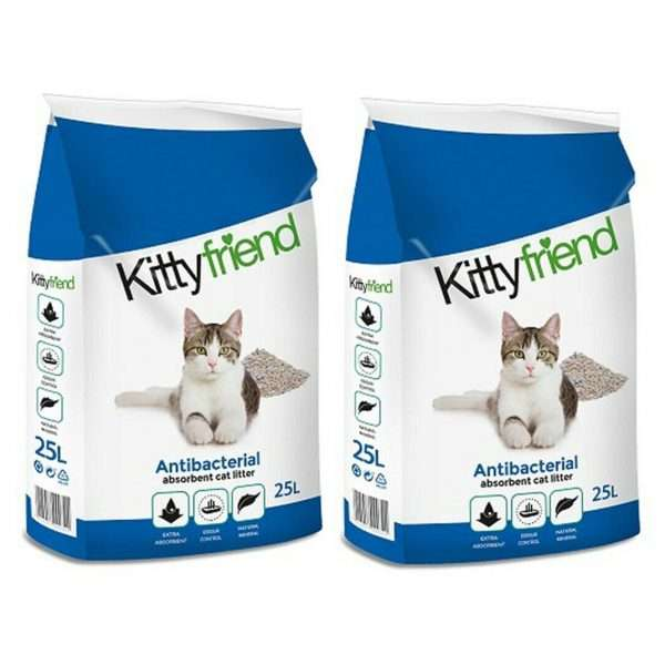 Kitty Friend Antibacterial Cat Litter 25L x 2