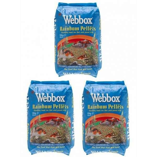 Webbox Pond Rainbow Pellets 10kg x 3