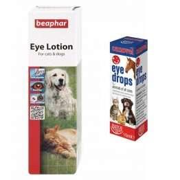 Canovel Eye Drops PLUS Beaphar Eye Lotion for Cats & Dogs