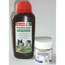 Exmarid Ointment 100g AND Exmarid Shampoo 250ml for Dogs with Itchy Skin