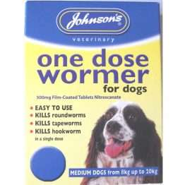 One Dose Easy Wormer Size 2 for dogs 6 - 20kg