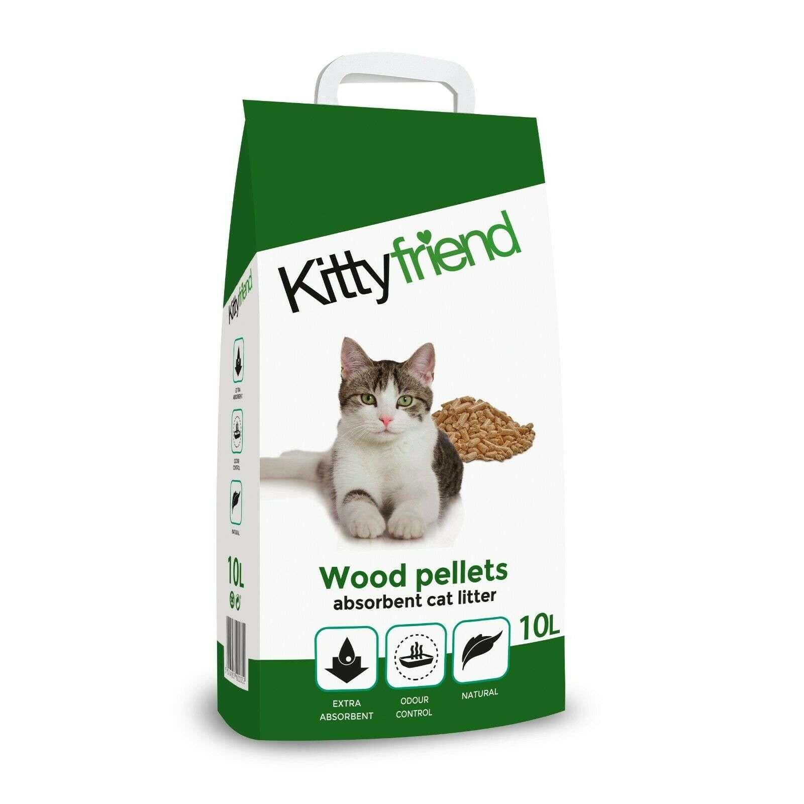 Sanicat Kitty Friend Wood Pellets Cat Litter 10L