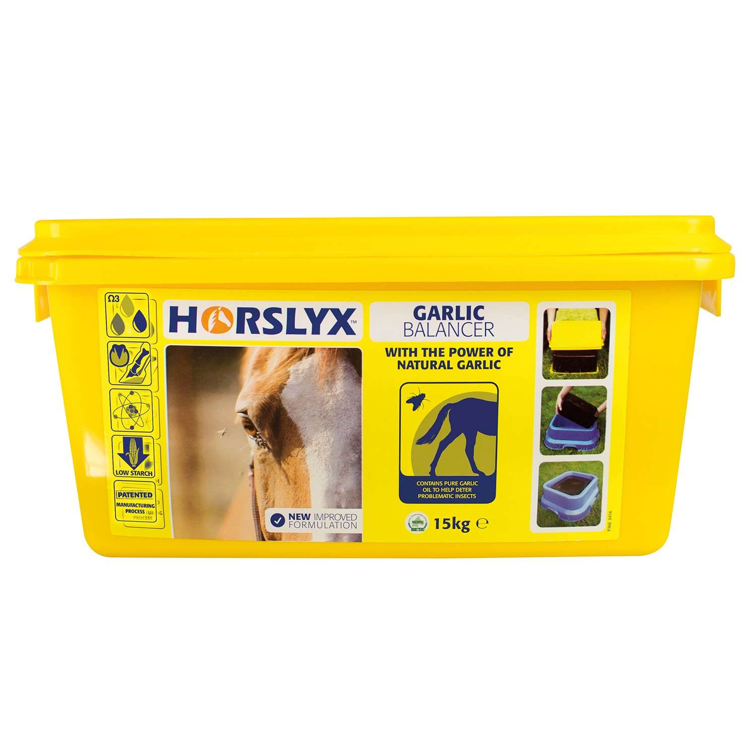 Horslyx Garlic Lick Refill 15kg. Natural Fly Repellant Horse Lick with Free Delivery