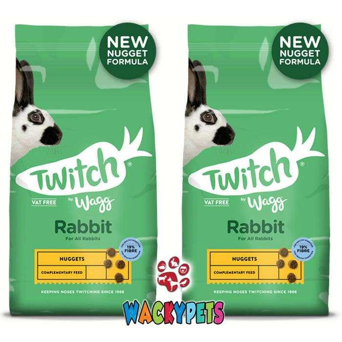 Twitch by Wagg Rabbit Nuggets 10kg x 2 Sacks. 20kg Rabbit Food