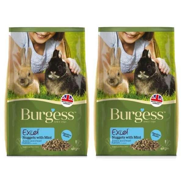 Burgess Excel Rabbit Junior & Dwarf 4kg x 2