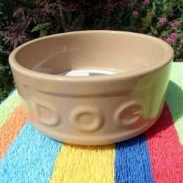 13cm Mason Cahs Ceramic lettered dog bowl