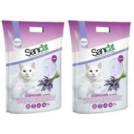 Sanicat Diamonds Lavender Cat Litter 15L