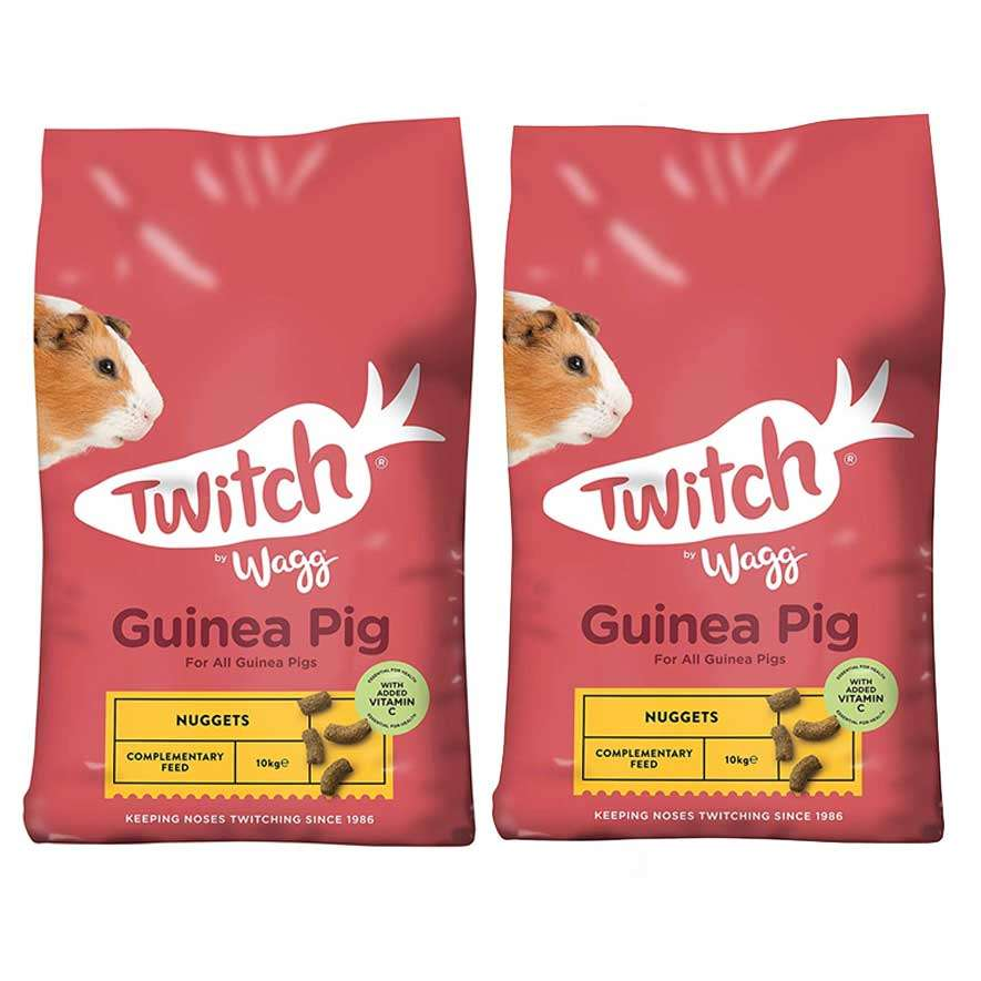 Twitch by Wagg Guinea Pig Nuggets / Food 10kg x 2. 20kg Total