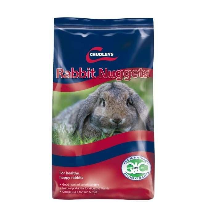 Chudleys Rabbit Nuggets 15kg Rabbit Feed