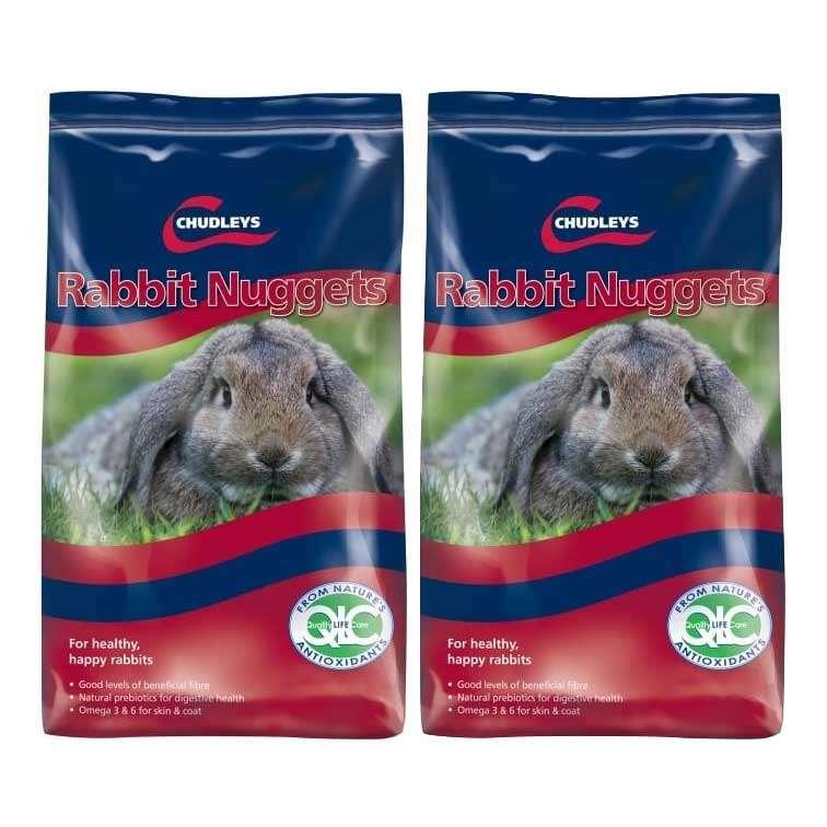 Chudleys Rabbit Nuggets 15kg x 2. 30kg Rabbit Feed