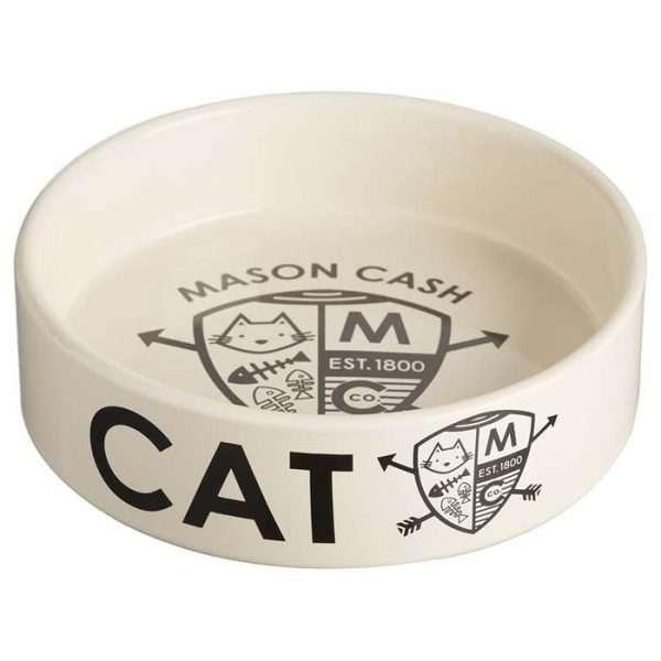 The Mason Cash Coat of Arms Ceramic Cat Bowl