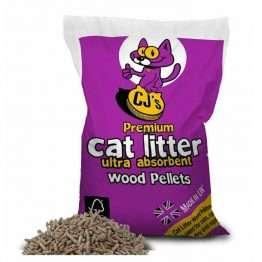 CJs Premium Wood Pellets Cat Litter 30L
