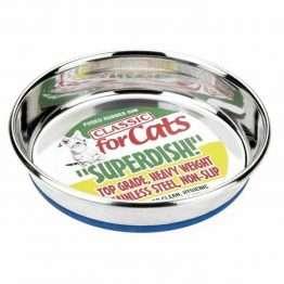 "Classic Non Slip Cat Dish Stainless Steel Superdish, 5"""