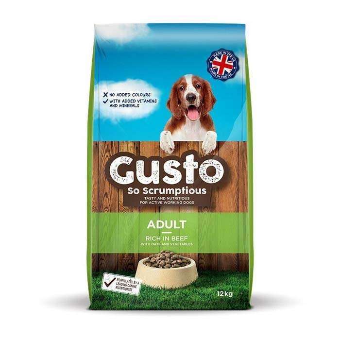 Gusto Adult Dog Food 12kg x 1 or 2 Sacks – ONE SACK