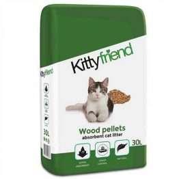 Kitty Friend Wood Pellets Cat Litter 30L
