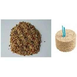 1.75kg Bucktons Budgie Tonic Seed AND Versele Laga Bird Mineral Grit Mini Block