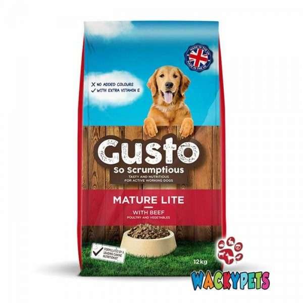 Gusto Mature Lite Dog Food 12kg