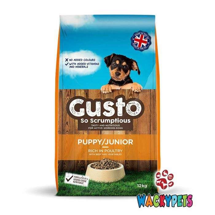 Gusto Puppy Dog Food 12kg x 1 or 2 Sacks – ONE SACK
