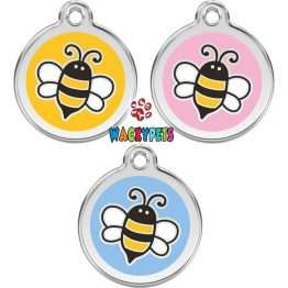 Red dingo Bumble Bee dog tag