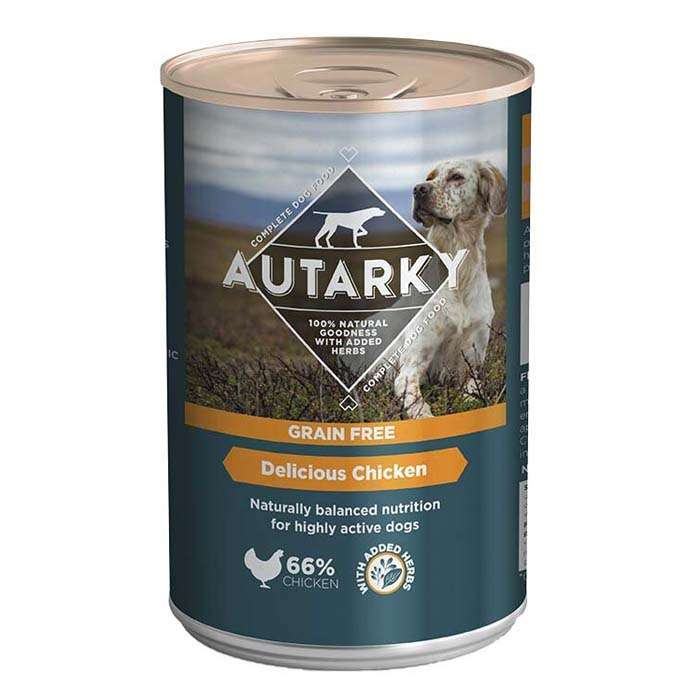 Autarky Grain Free Delicious Chicken with Veg Wet Dog Food 12 x 395g Cans