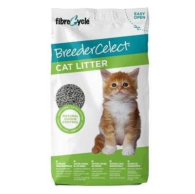 Breeder Celect Cat Litter 30L. 99% Recycled Paper Litter